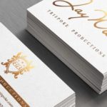 Silk Laminated Business Cards with Stamped Foil